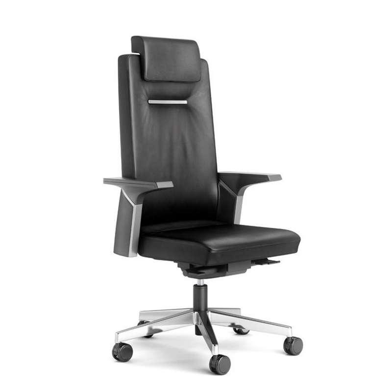 fauteuil de direction en cuir avec roulettes k01 4. Black Bedroom Furniture Sets. Home Design Ideas