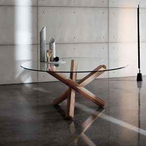 Table en verre design ronde - Aikido Sovet®