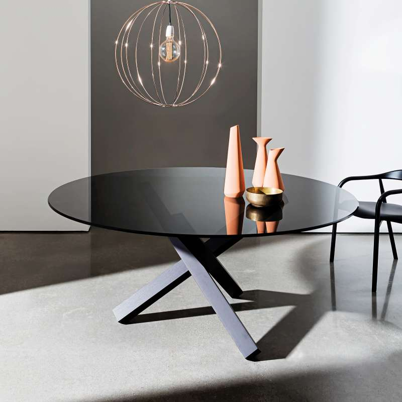 table en verre design ronde aikido sovet 4. Black Bedroom Furniture Sets. Home Design Ideas