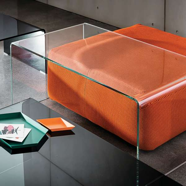 Table basse moderne rectangulaire en verre - Bridge Sovet®