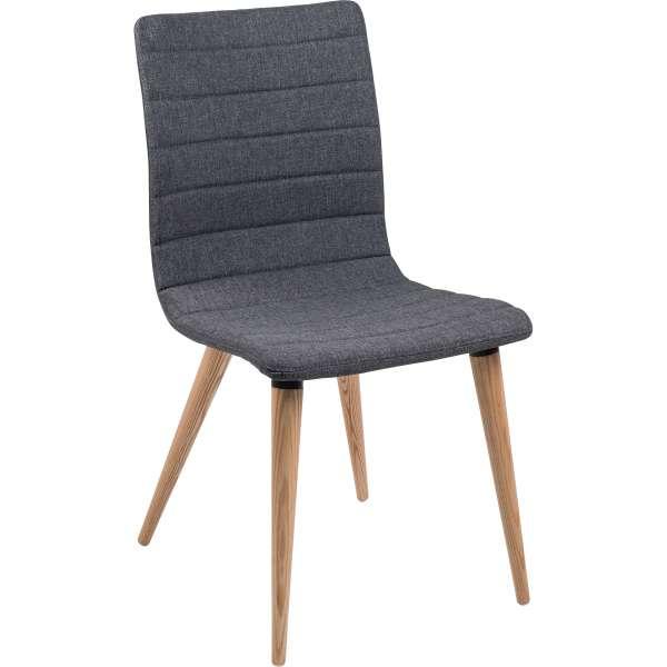 Chaise scandinave en tissu avec pieds en bois - Doris