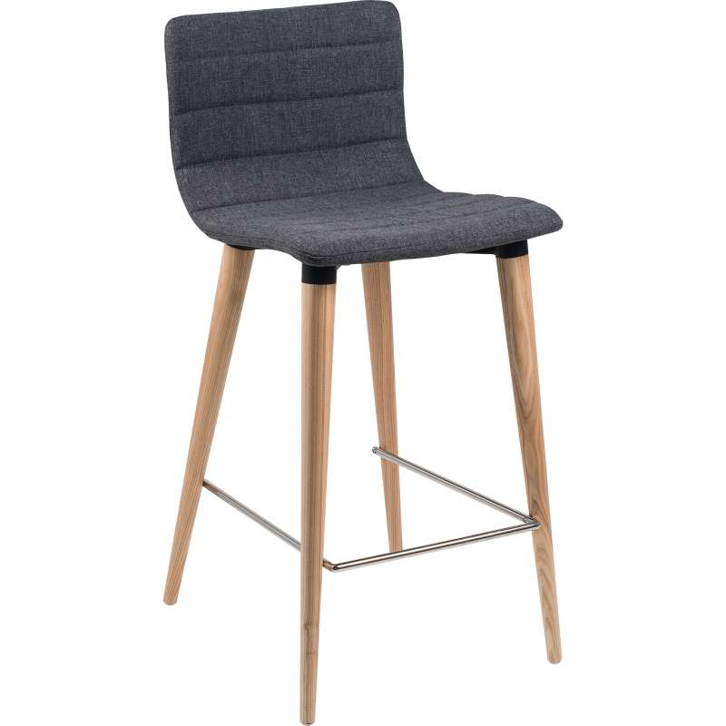 tabouret snack scandinave en tissu et pieds en bois doris 4. Black Bedroom Furniture Sets. Home Design Ideas