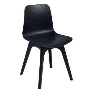 Chaise design en polypropylène noir - Céleste