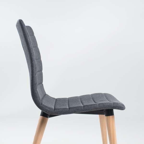 Chaise scandinave en tissu et bois - Doris 5 - 5