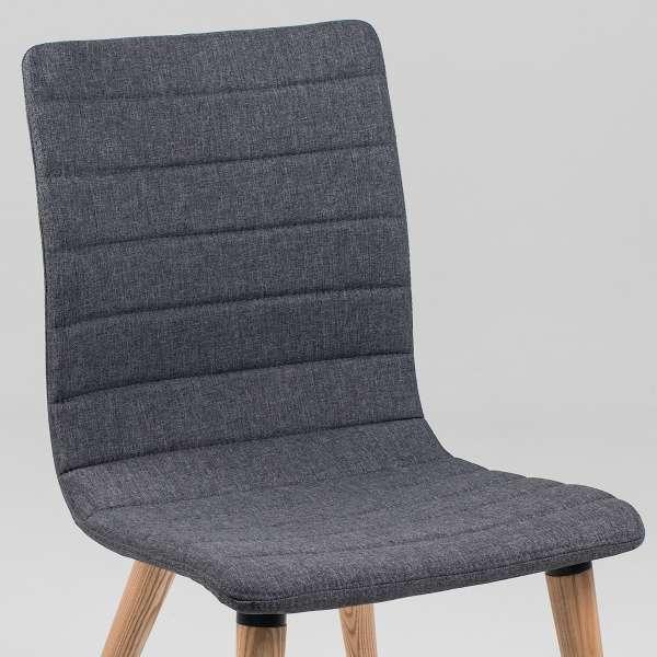 Chaise scandinave en tissu et bois - Doris 9 - 9