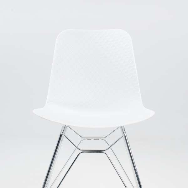 Chaise design en polypropylène blanc et métal - Céleste 3 - 3