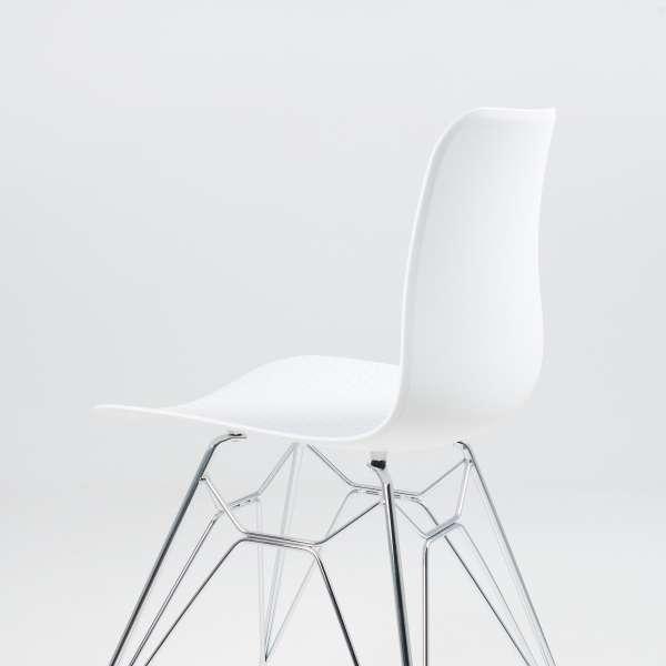 Chaise design en polypropylène blanc et métal - Céleste 7 - 7
