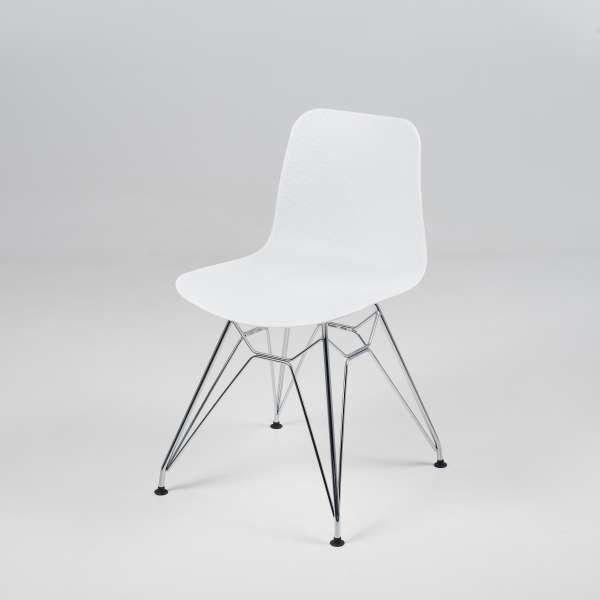 Chaise design en polypropylène blanc et métal - Céleste 2 - 2