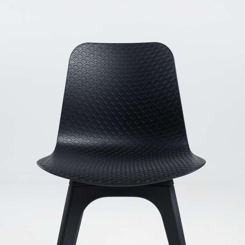 Chaise De Designer En Polypropylne Noir