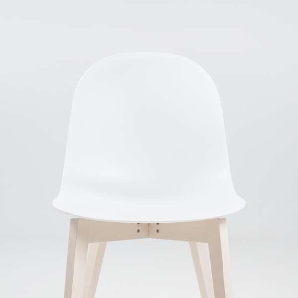 Chaise scandinave en polypropylène blanc et bois - 1665 Academy Connubia 3 - 3