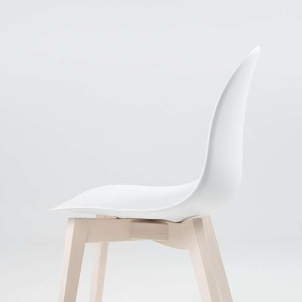 Chaise scandinave en polypropylène blanc et bois - 1665 Academy Connubia 5 - 5
