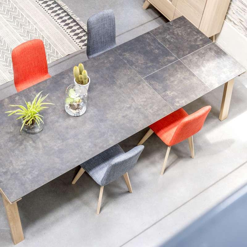 Table De Salle A Manger Extensible En Ceramique Rectangulaire Cera