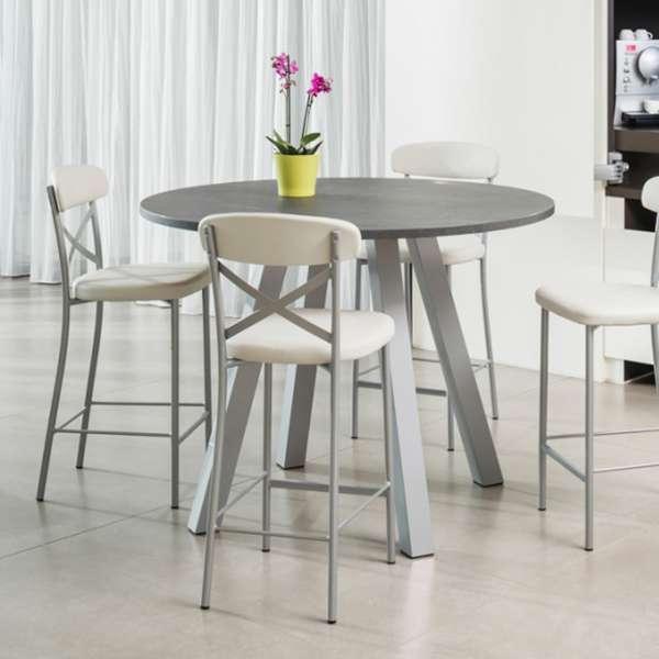 tabouret snack de cuisine en m tal et synth tique calia 4 pieds tables chaises et tabourets. Black Bedroom Furniture Sets. Home Design Ideas