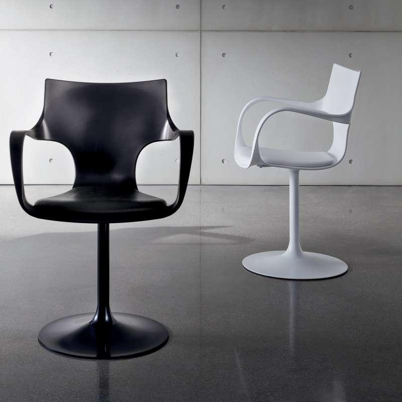 Souvent Chaise design pivotante avec accoudoirs - Flûte Sovet® - 4 Pieds  EL46