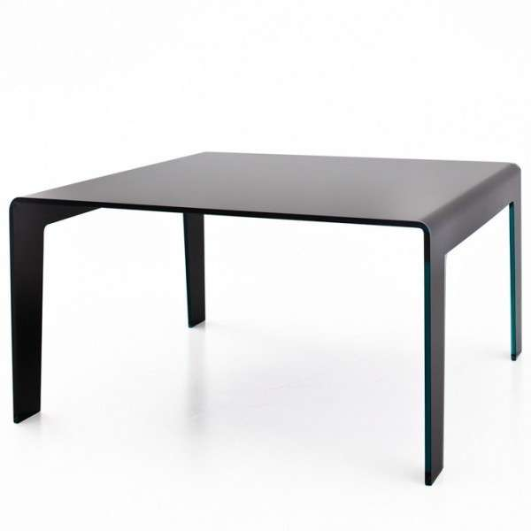 table design rectangulaire ou carr e en verre frog sovet 4 pieds tables chaises et tabourets. Black Bedroom Furniture Sets. Home Design Ideas
