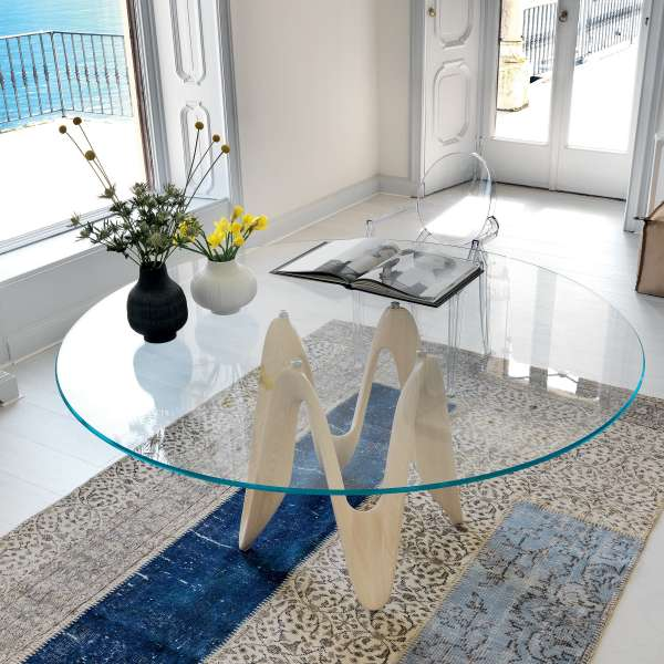 Table ronde design en verre - Lambda Sovet® 3 - 3