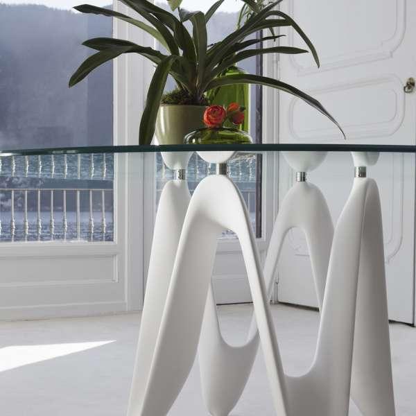 Table ronde design en verre - Lambda Sovet® 5 - 5