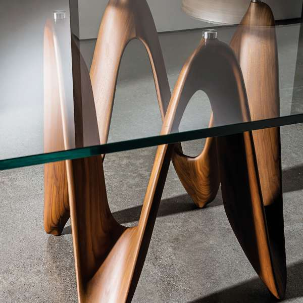 Table de salle manger design en verre 320 x 120 cm for Table salle a manger un pied