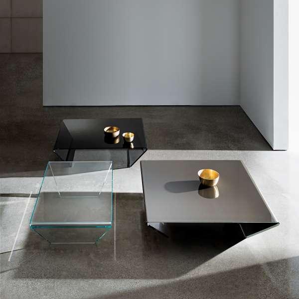 Table basse design en verre -  Rubino Sovet® 9 - 5