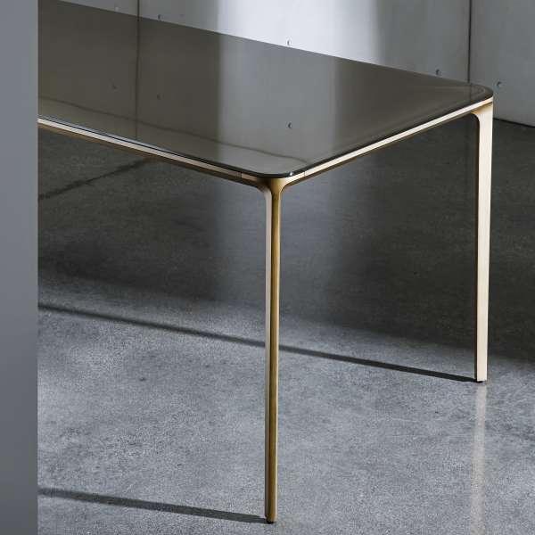 Table design rectangulaire en verre - Slim Sovet® 5 - 5