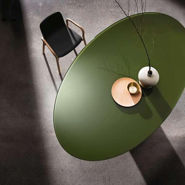 Table design ovale en verre - Totem Sovet® 2 - 2