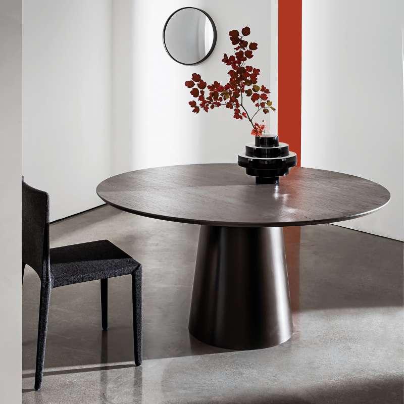 table design ronde plateau bois totem sovet 4 pieds. Black Bedroom Furniture Sets. Home Design Ideas