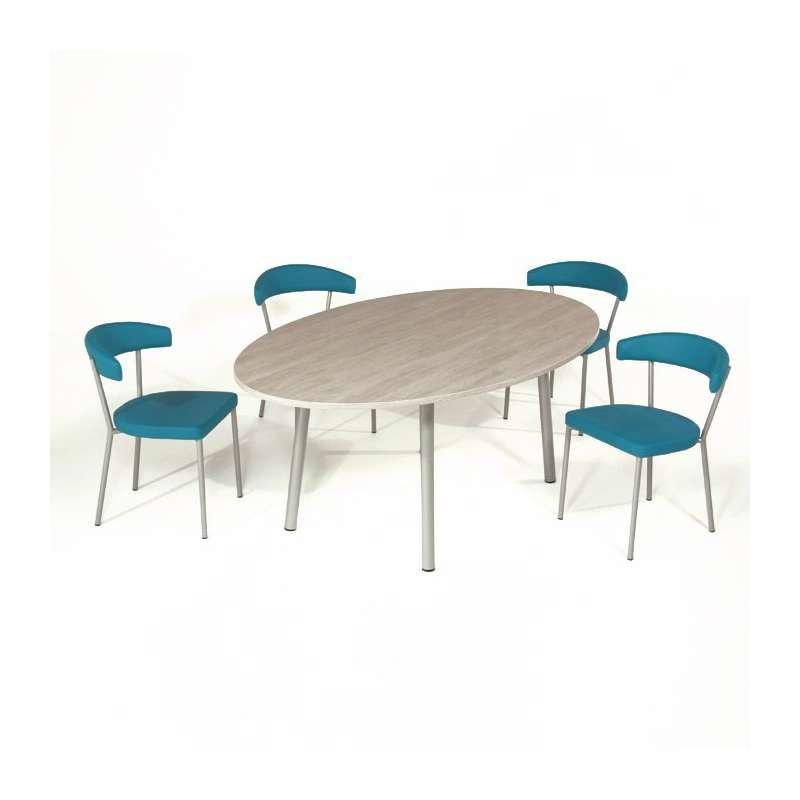 Table ovale cuisine conceptions de maison for Table cuisine ovale blanche