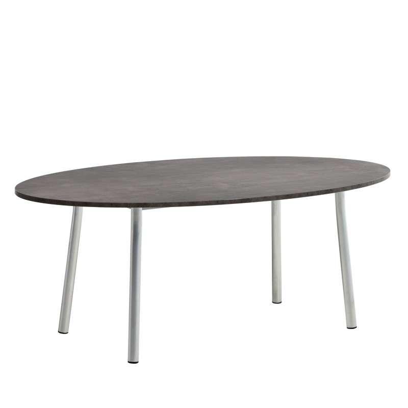 table de cuisine ovale en stratifi elli 4 pieds
