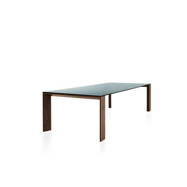 Table design rectangulaire en verre piétement bois - Toronto Sovet® - 2