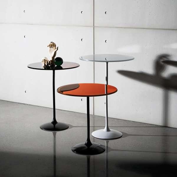 Table basse design en verre - Tulip 2 - 2
