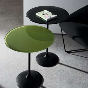 Table basse design en verre - Tulip