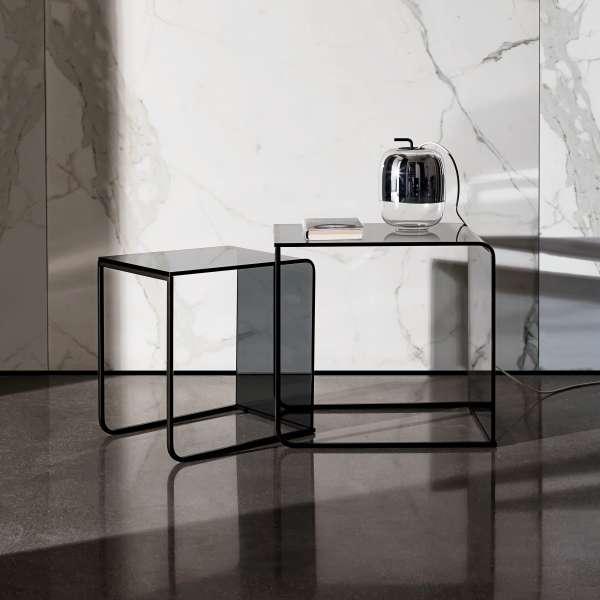 Table basse gigogne en verre - Nido 3 - 3