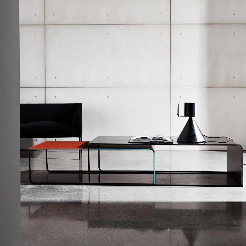 Table basse gigogne en verre nido 4 pieds tables - Table basse gigogne verre ...