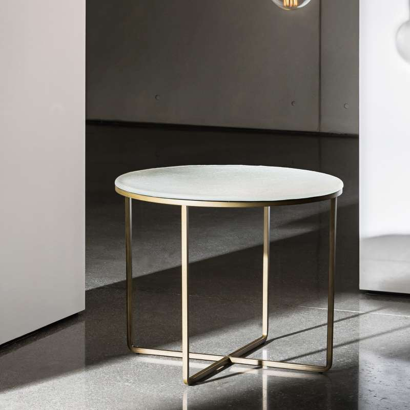 Table basse ronde en verre piktor sovet 4 - Table basse ronde en verre design ...