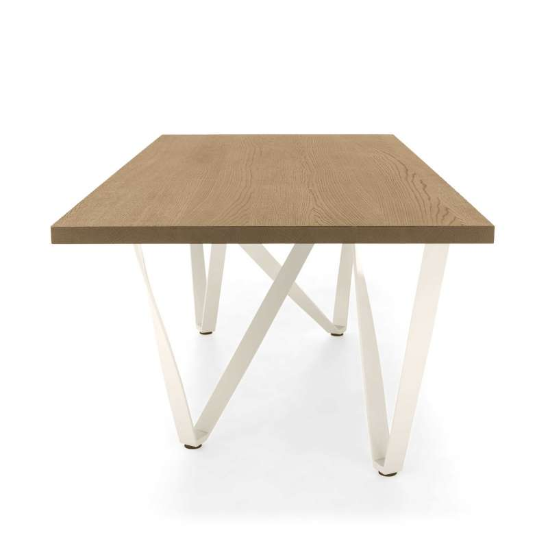 Célèbre Table design extensible en métal et bois - Wave - 4 Pieds : tables  PL29