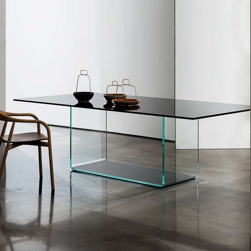table de salle manger design en verre valencia sovet. Black Bedroom Furniture Sets. Home Design Ideas