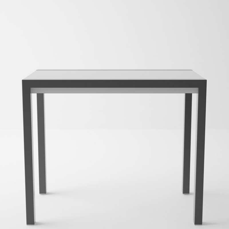 Table en verre extensible pour petit espace concept minor 4 pieds tables chaises et tabourets for Table console pour cuisine