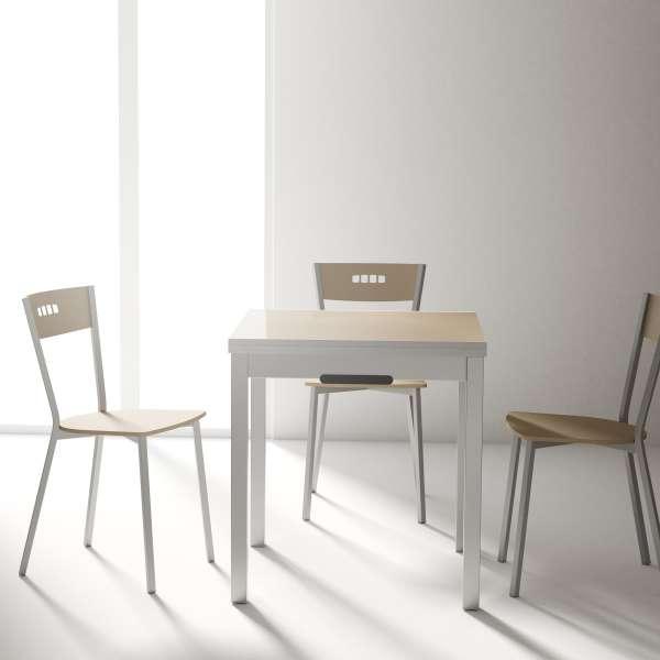 Table petit espace extensible en verre - Domino 5 - 6