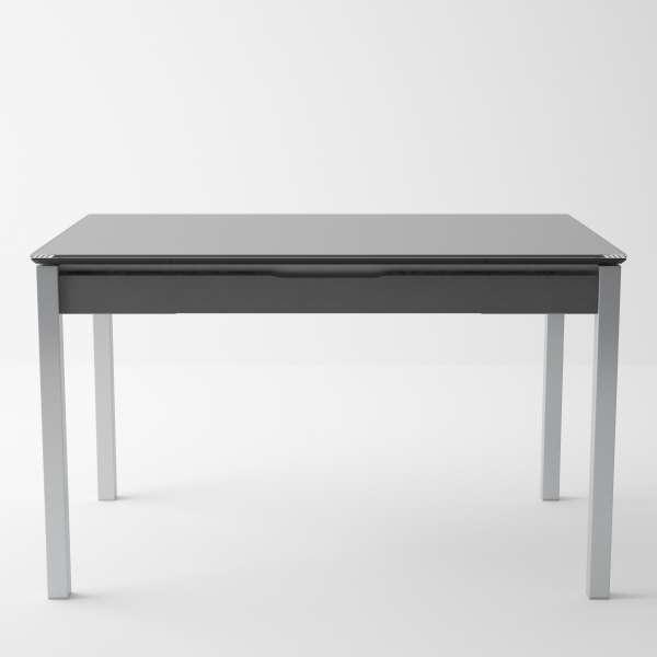 Table de cuisine en verre extensible avec tiroir - Camel 5 - 5