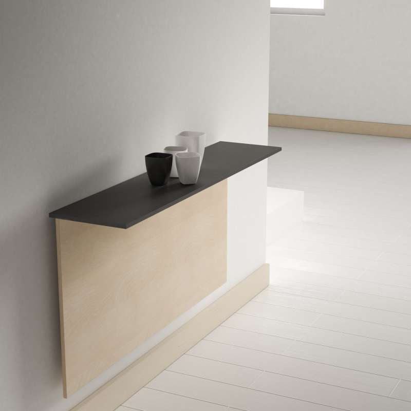Table pliante murale contemporaine click 4 pieds for Table rabattable murale