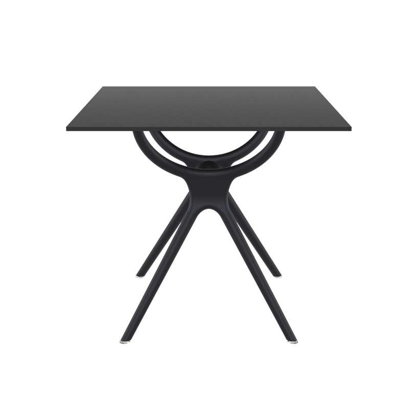 Table carr e petit espace en stratifi et polypropyl ne for Table bar petit espace