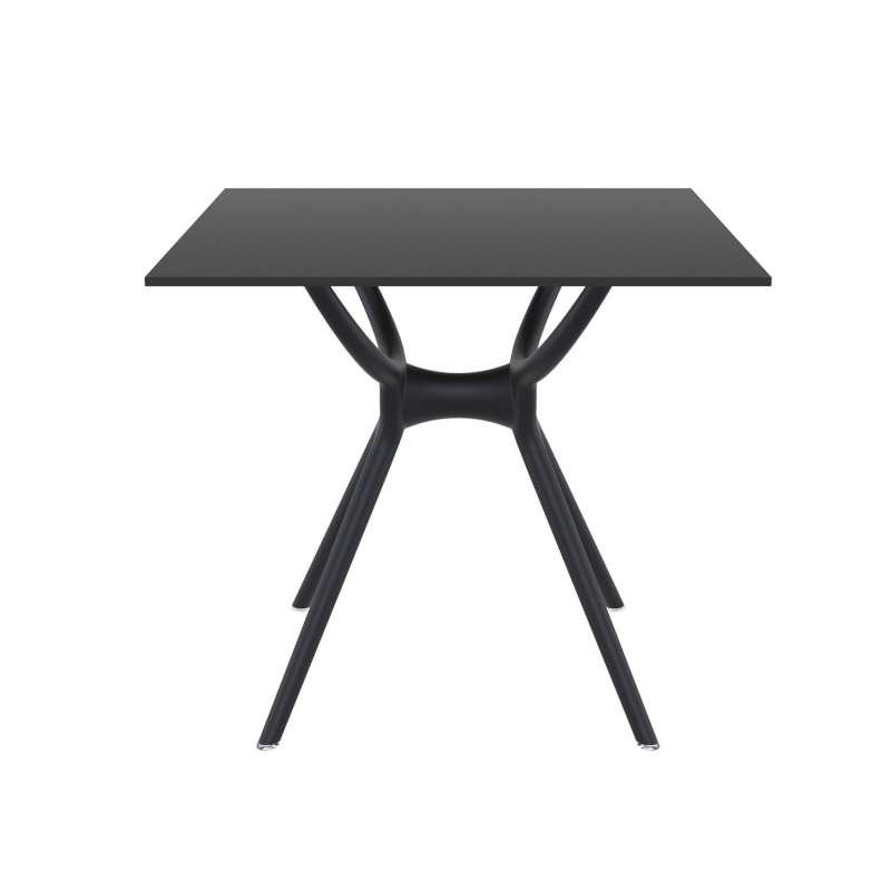 table carr e petit espace en stratifi et polypropyl ne air 4. Black Bedroom Furniture Sets. Home Design Ideas
