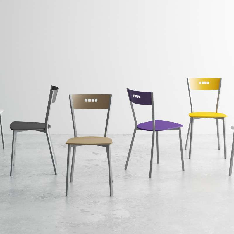 chaise de cuisine moderne en bois et m tal versus 4. Black Bedroom Furniture Sets. Home Design Ideas