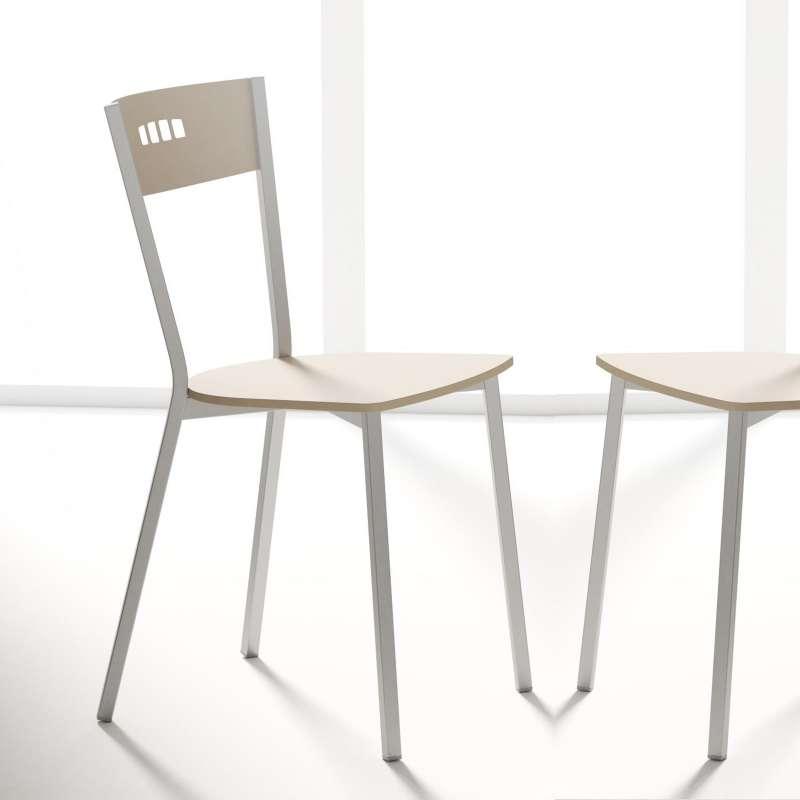 chaise de cuisine moderne en bois et métal - versus - 4 pieds ... - Chaise De Cuisine Moderne