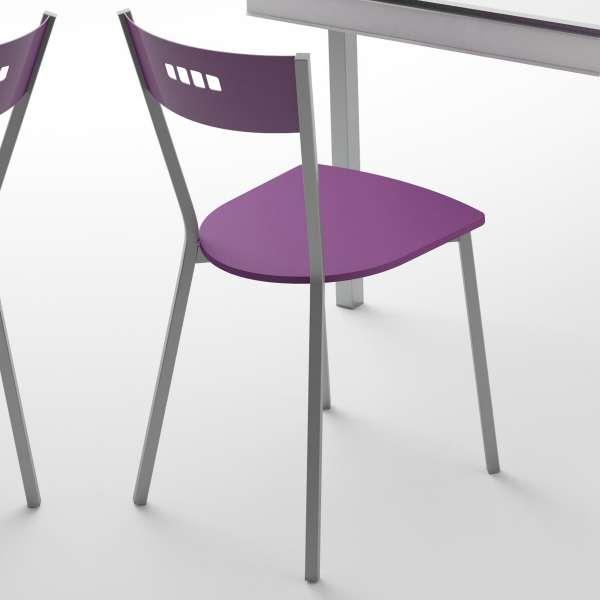Chaise de cuisine contemporaine en tissu et métal - Versus 3 - 3