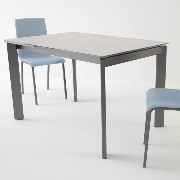 Table petit espace extensible en céramique - Poker 2 - 2