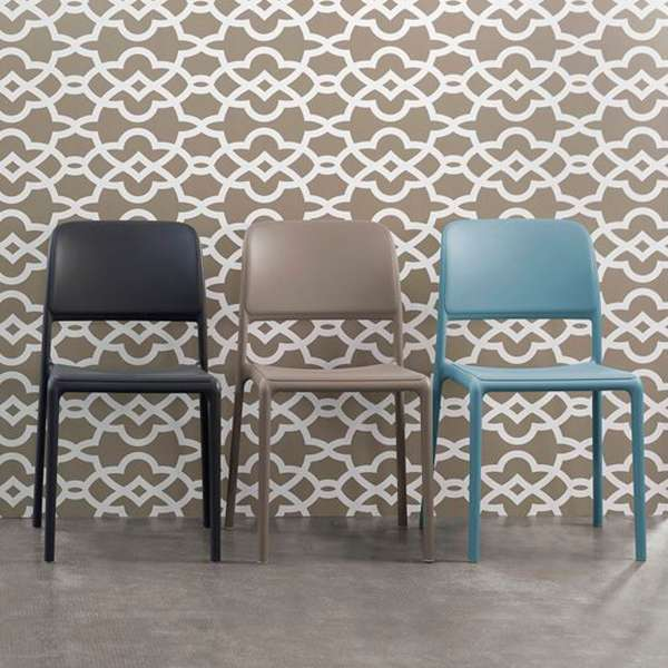 Chaise d'extérieur en plastique - Riva Bistrot 3 - 55