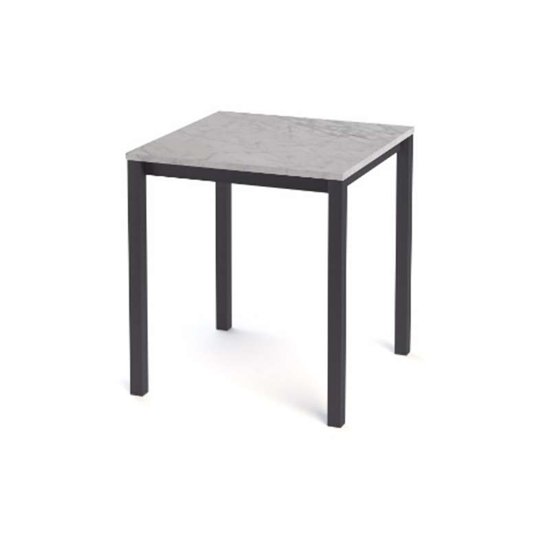 Table snack de cuisine carr e en stratifi vienna 4 pieds tables chais - Table cuisine carree ...