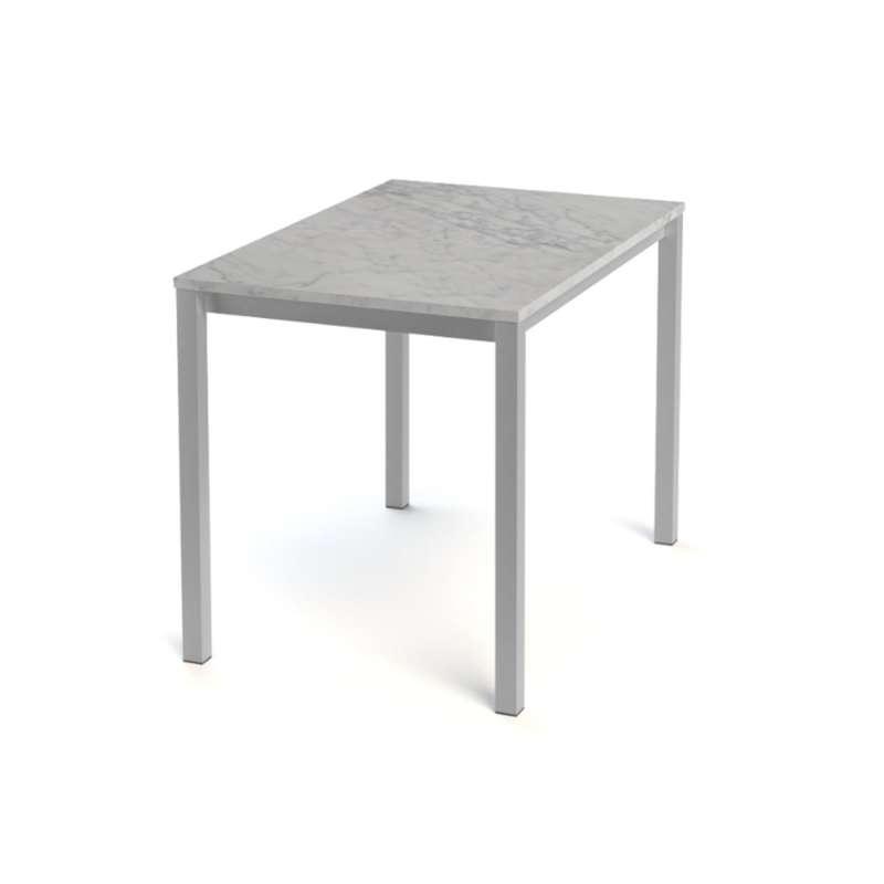 Table snack de cuisine rectangle en stratifi vienna 4 for Table cuisine 4 pieds