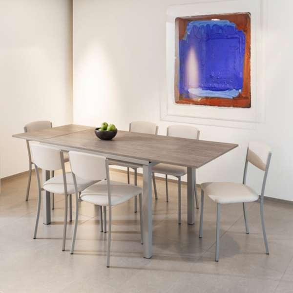 Table de cuisine extensible en stratifi vienna 4 for Table cuisine extensible